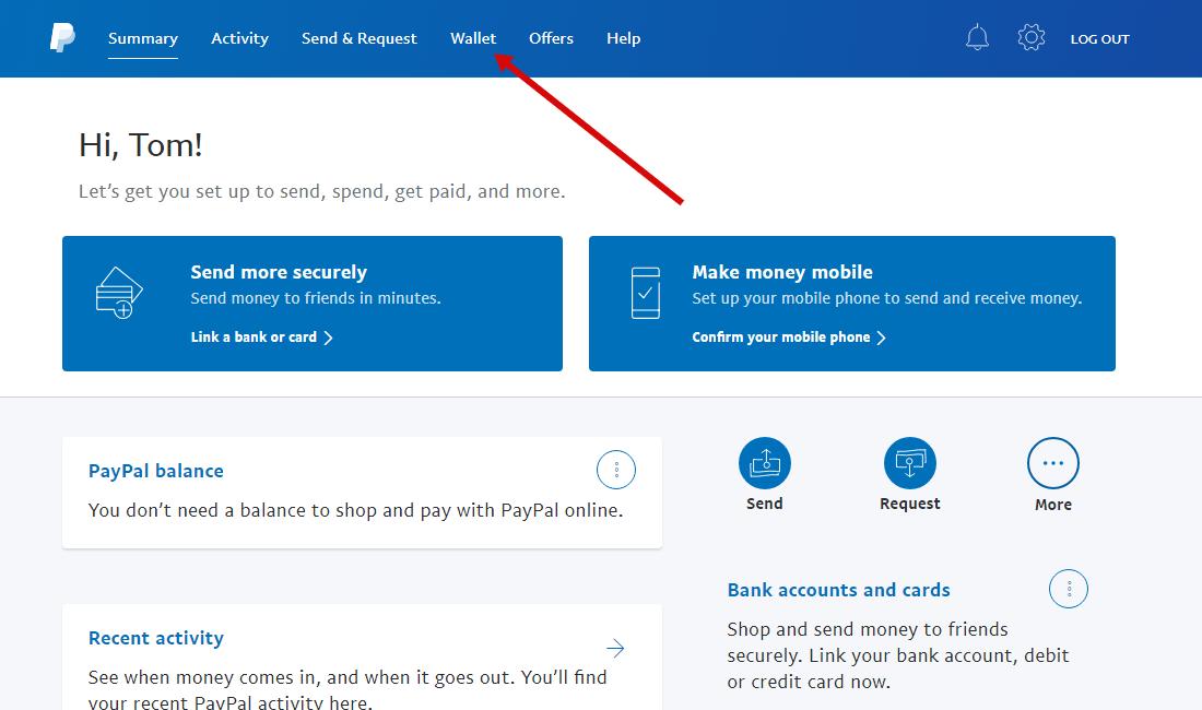 Verifikation Paypal